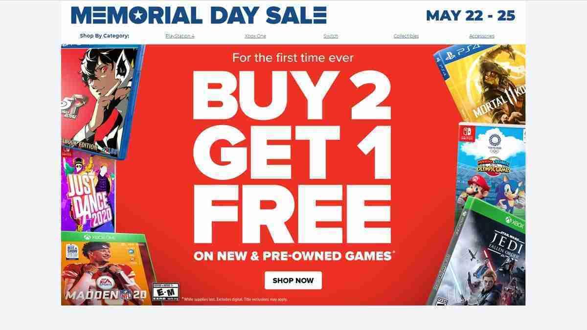 GameStop's memorial day sale