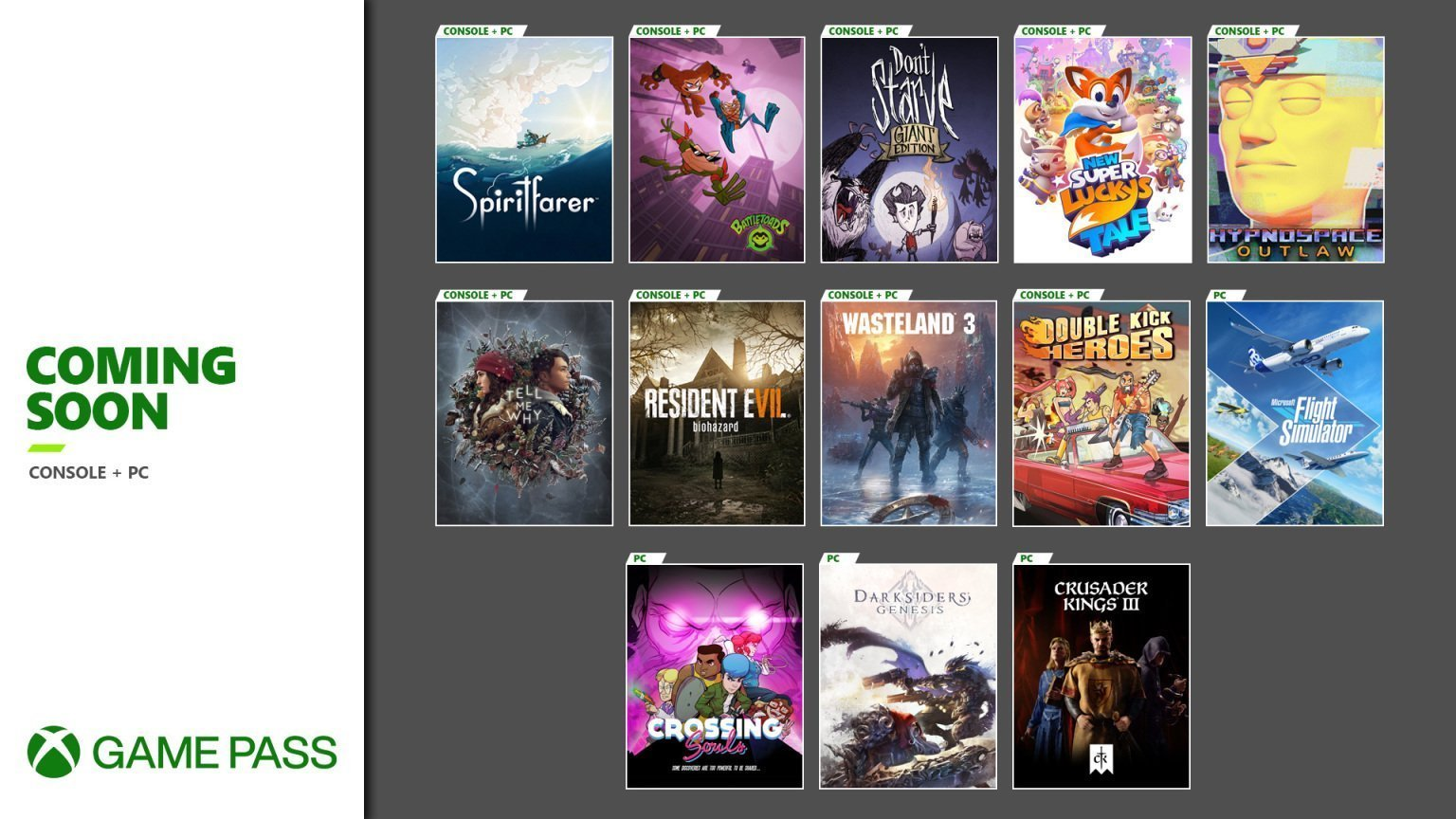 New Xbox Game Pass Games
