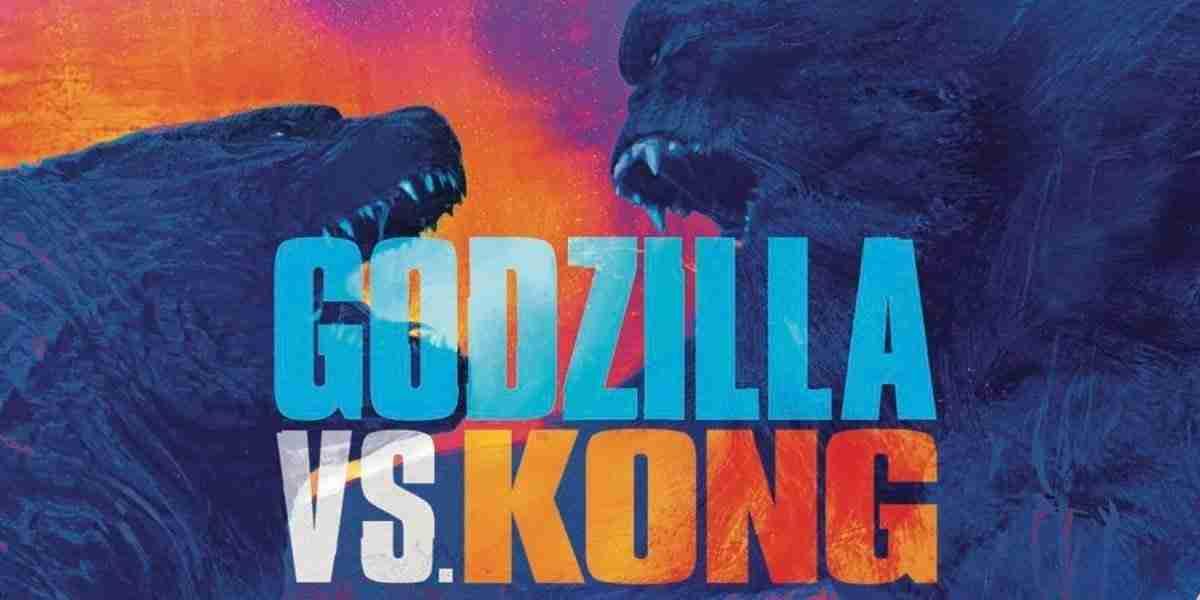 colorful image of godzilla and king kong