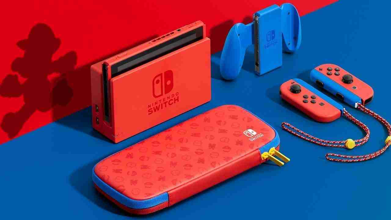 Mario Red and Blue Switch console announced