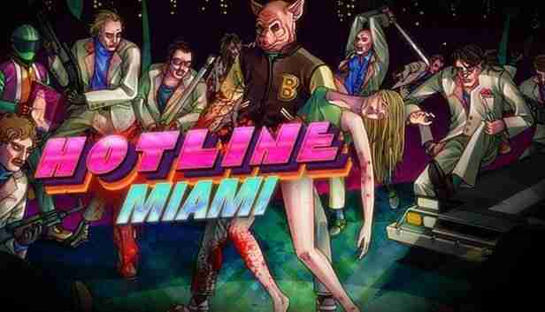image of jacket with pig masjk hot pink letters read hotline miami