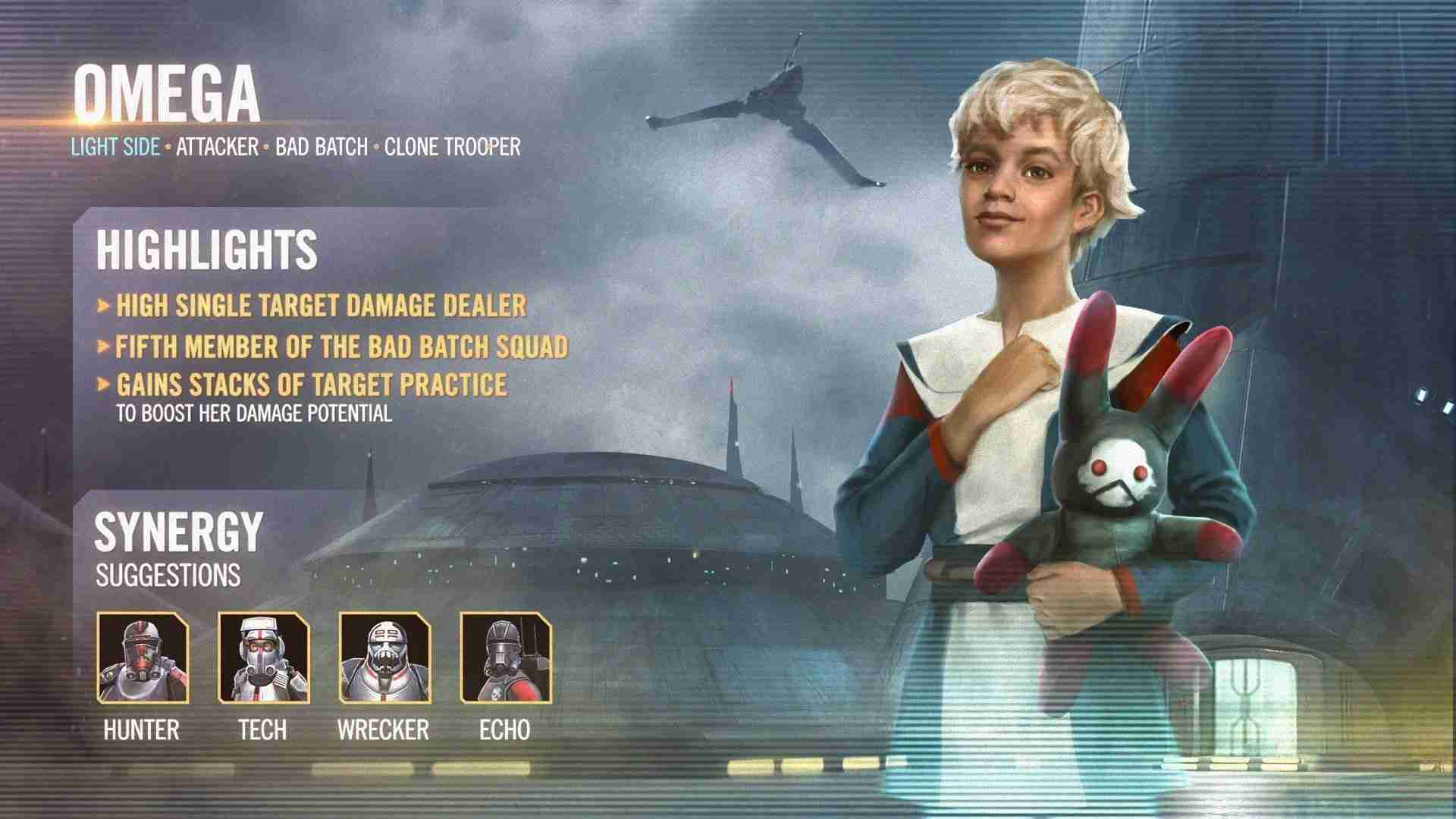 Omega Joins the Holotables in Star Wars: Galaxy of Heroes