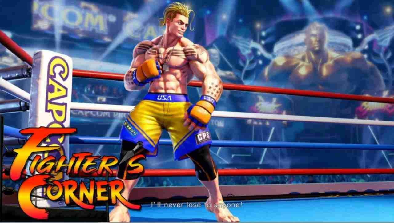 boxing ring with new street fighter character luke